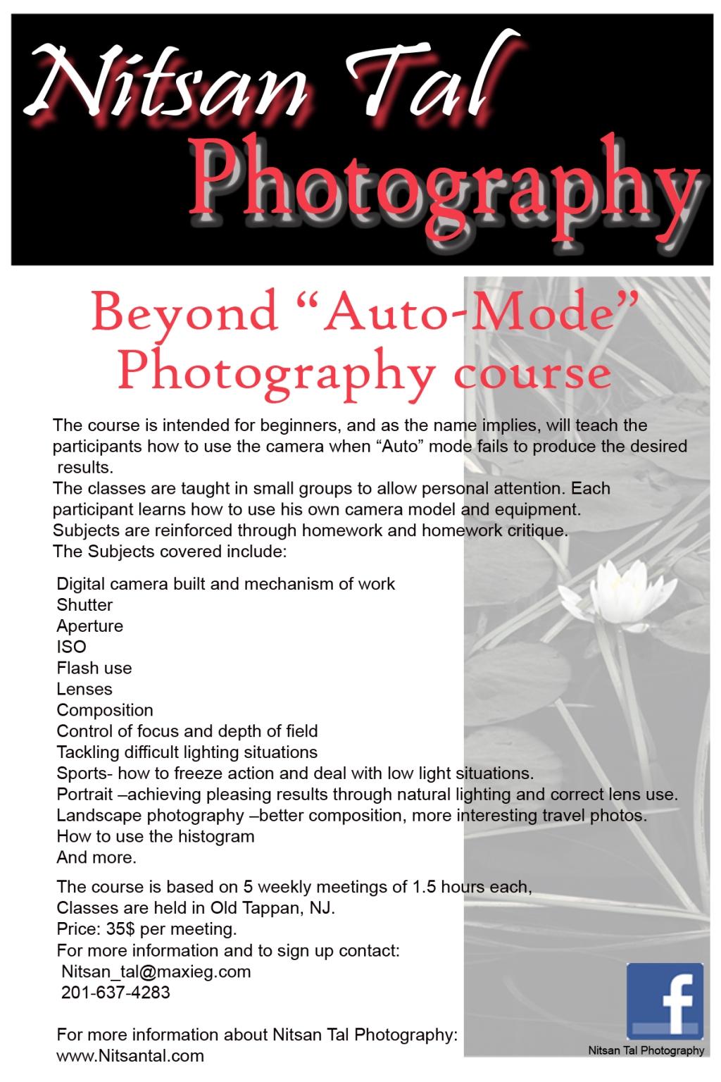photography class brochure